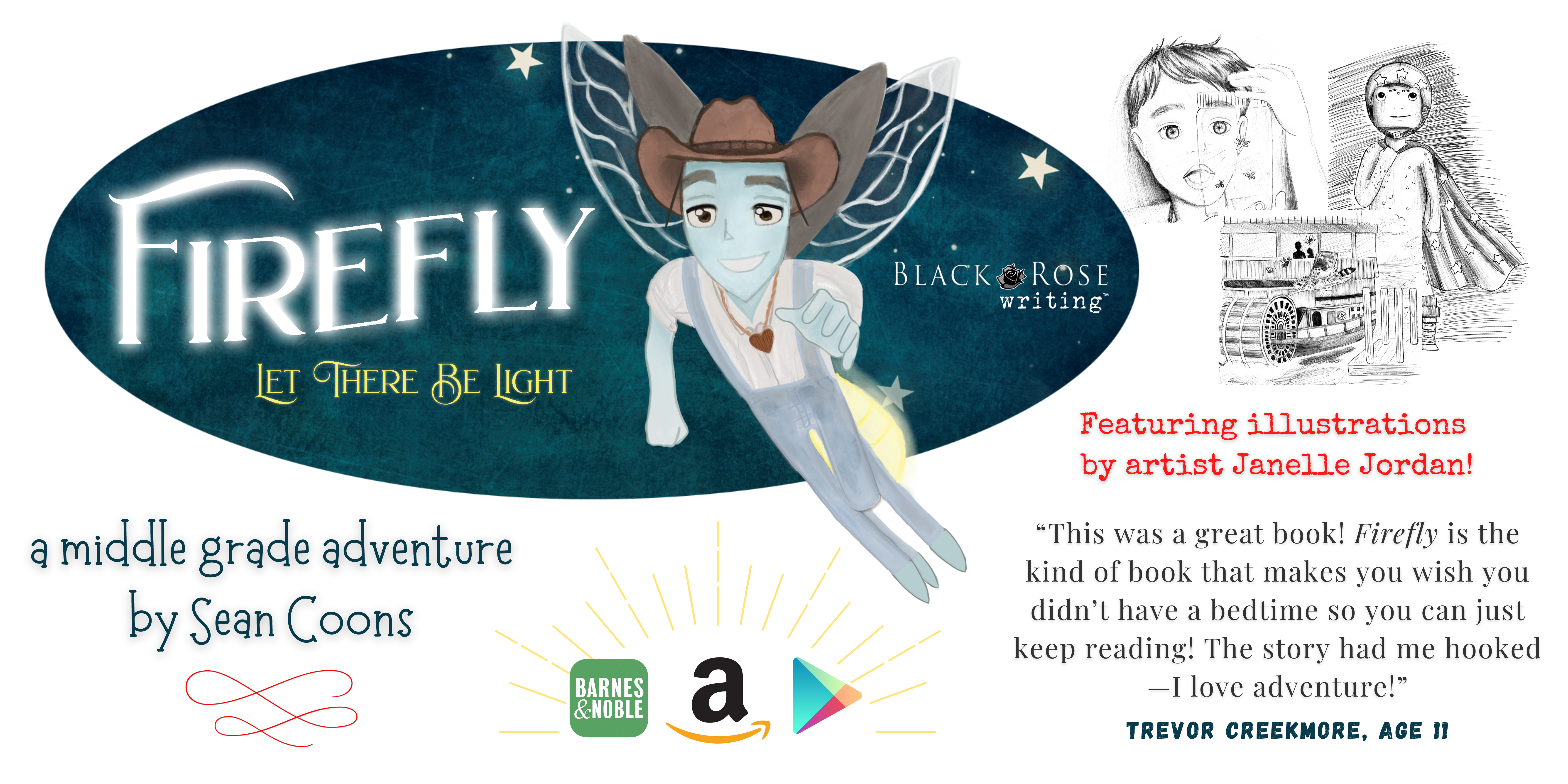 Firefly by Sean Coons - middle grade adventure novel - website banner - 001